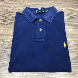 Polo Ralph Lauren Navy Custom Fit Polo Shirt L